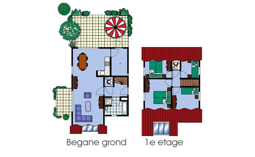Vakantiehuis Elkerzee Zeeland Village Plattegrond