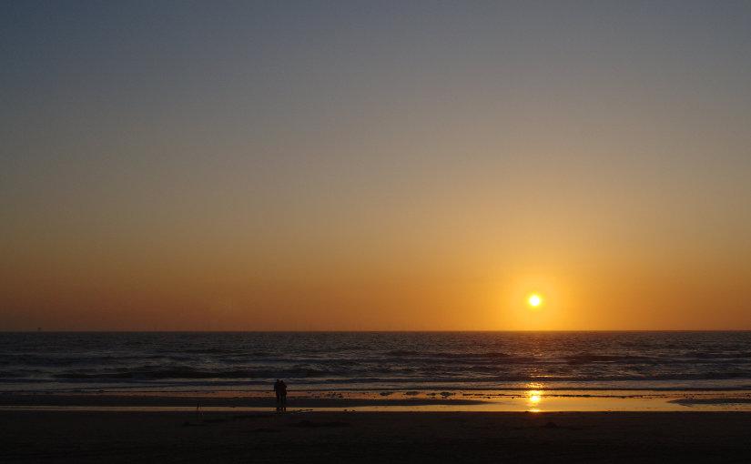 Prachtige zonsondergang op Zeeland