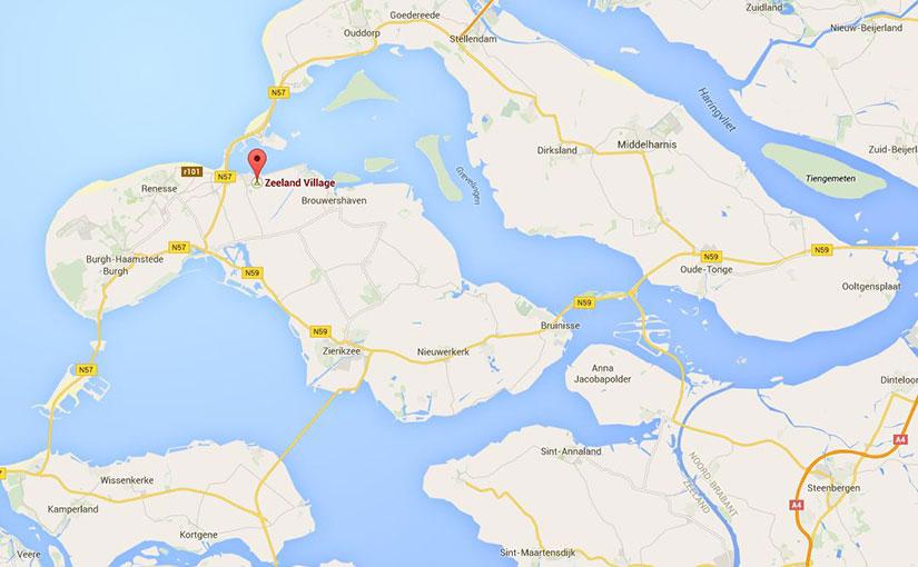 Map Schouwen-Duiveland + Zeeland Village
