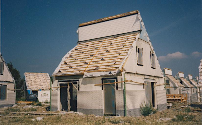 Vakantiewoningen in bouw op vakantiepark Zeeland Village
