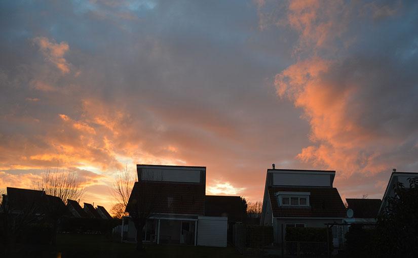 Zeeland Village Sonnenuntergang